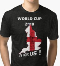 World Cup 2018 England Football Tri-blend T-Shirt