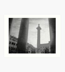 ROME - PIAZZA COLONNA  -  Art Print