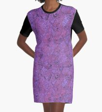 Purple And Red Abstract Watercolor Graphic T-Shirt Dress