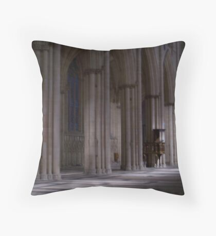 Inside York Minster Throw Pillow