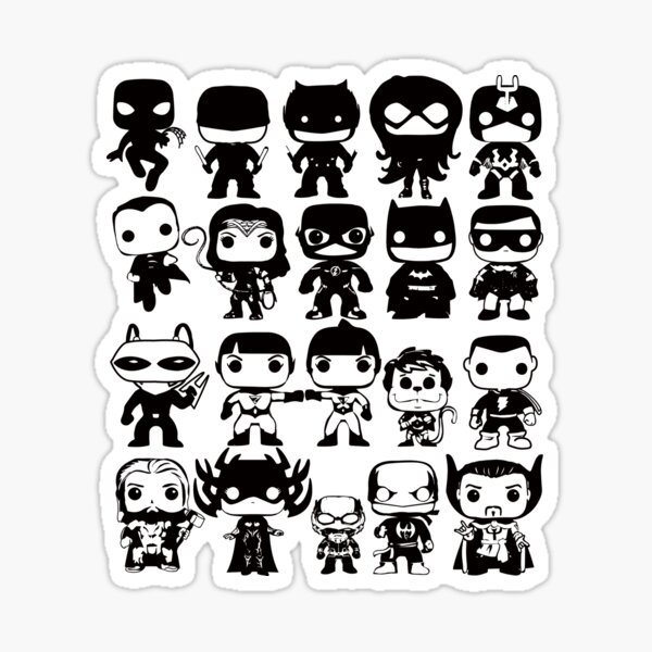 Collection Funko Pop Out of Box Sticker