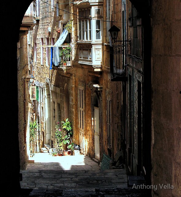 Cospicua, Malta. A View through the Arch by Anthony Vella