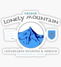 Longbeards Weapons & Armour : Erebor Lonely Mountain Sticker