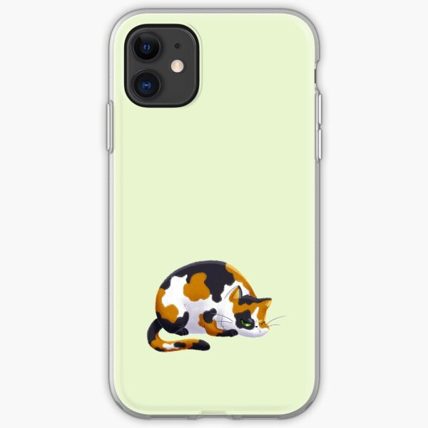Chubby Grumpy Kitty (Calico) iPhone Soft Case