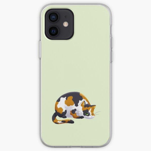 Chubby Grumpy Kitty (Calico) iPhone Soft Case