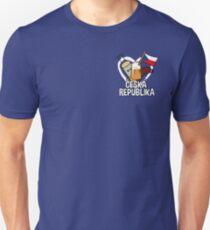 Heart Czech Republic - Ceska Republika Apparel Unisex T-Shirt