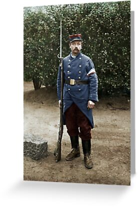 French soldier, August 1914 by Cassowary Colorizations