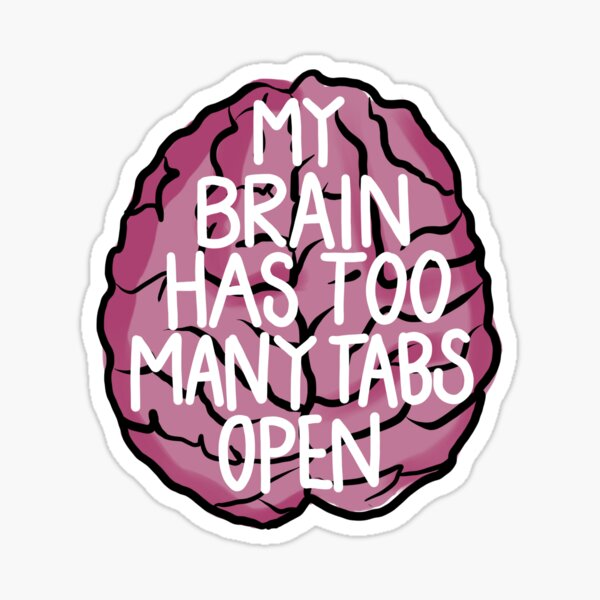 Pestañas cerebrales Pegatina