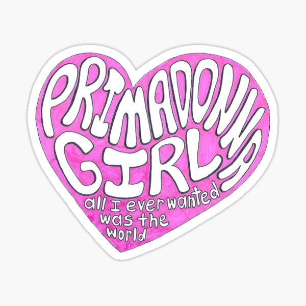 primadonna girl lyrics marina and the diamonds Sticker