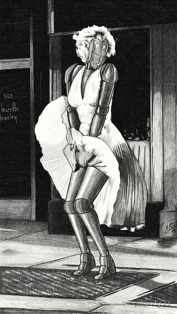 Marilyn Monroe Robot by peabody00