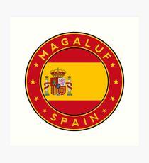 Magaluf, Magaluf sticker, Magaluf t-shirt, Spain, Cities of Spain Art Print