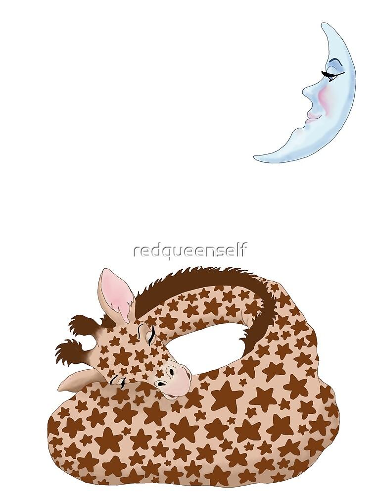 Giraffe Dreams by redqueenself