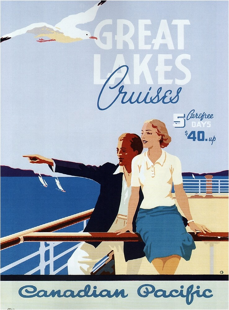 Vintage poster - Great Lakes Cruises by mosfunky