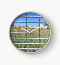 Grass Through The Grate Clock