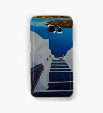 Upstairs Downstairs to Santorini Caldera Samsung Galaxy Case/Skin