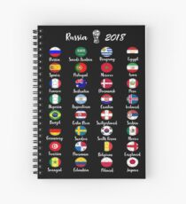 Russia 2018 Football Soccer All 32 Teams Spiral Notebook