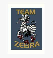 Team Zebra Art Print