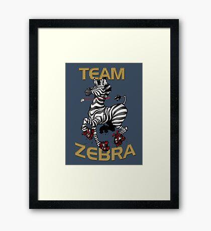 Team Zebra Framed Print
