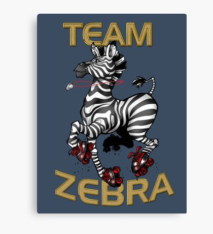 Team Zebra Canvas Print