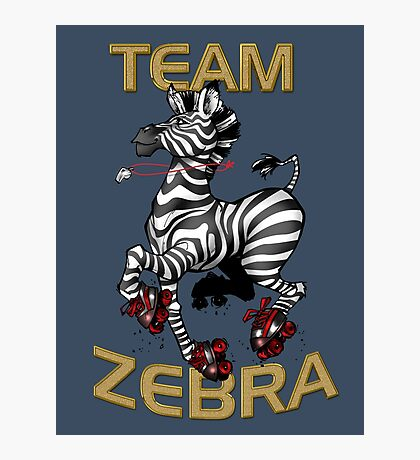 Team Zebra Photographic Print