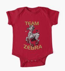 Team Zebra Baby Body Kurzarm