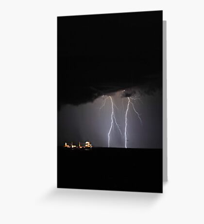 Lightning Off Fremantle  Greeting Card