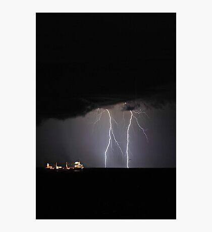 Lightning Off Fremantle  Photographic Print