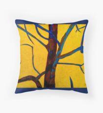 Yellow Tree II Throw Pillow