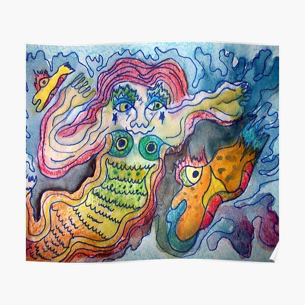 Watercolor Mermaid Poster