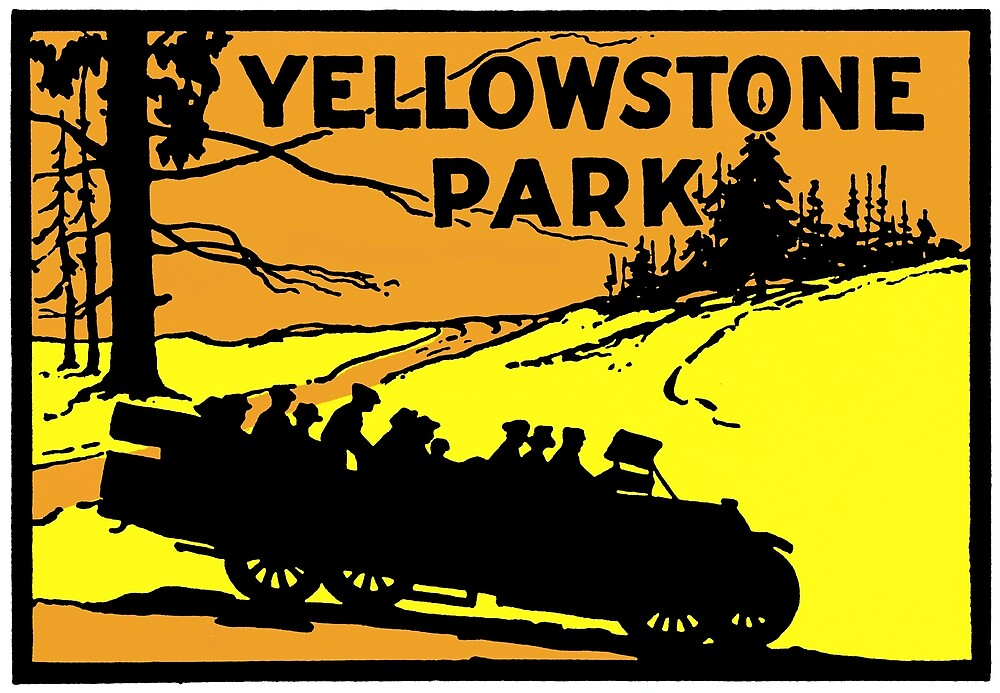 1920 Yellowstone Park by historicimage
