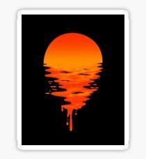 Pegatina puesta de sol sobre el agua