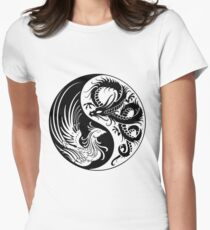 Dragon Phoenix ying yang  Fitted T-Shirt