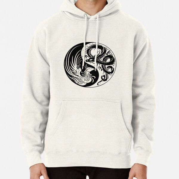 Dragon Phoenix ying yang  Pullover Hoodie