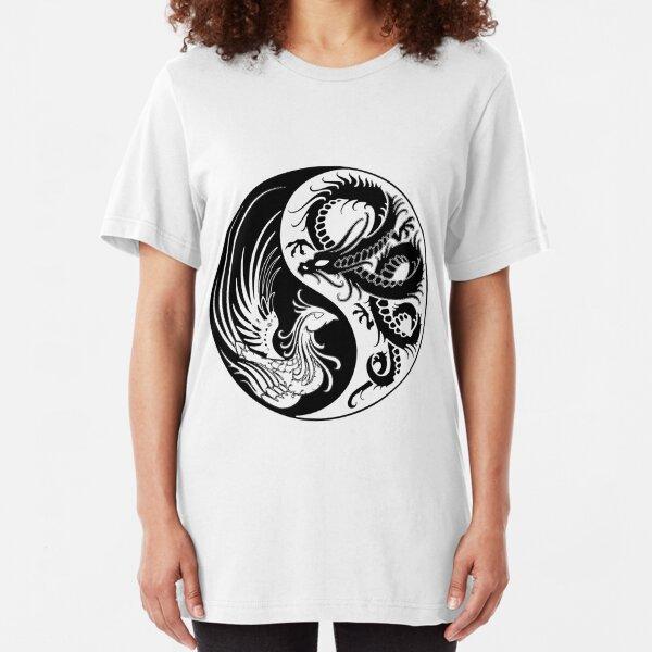 Dragon Phoenix ying yang  Slim Fit T-Shirt