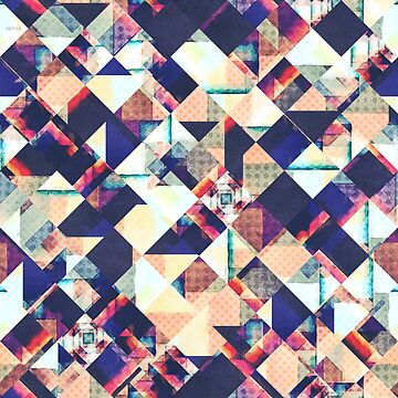 Geometric Grunge Pattern by perkinsdesigns
