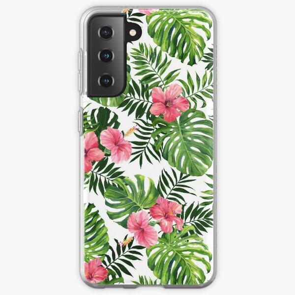 Tropical hibiscus Samsung Galaxy Soft Case