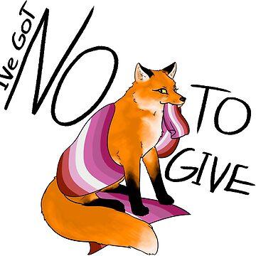 Pride Fox - Lesbian  by bluesparkle