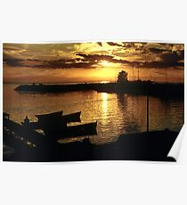 Sunset after the storm Poster