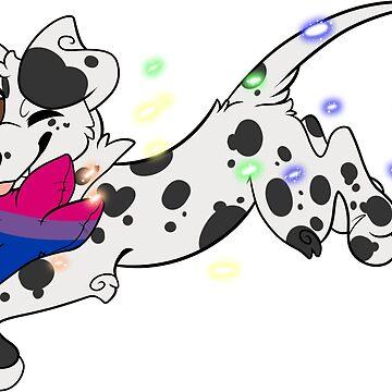 Bisexual Pride Dog by tapedangelwings