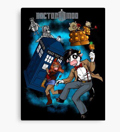 Doctor Moo vs the Baaleks and CyberHens Canvas Print