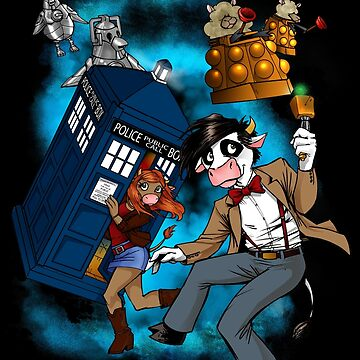 Doctor Moo vs the Baaleks and CyberHens by channandeller