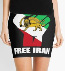 Free Iran unity fist with lion shirt  Mini Skirt