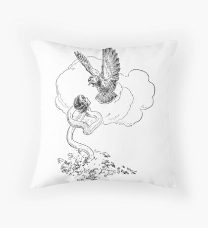 Alice the Serpent Throw Pillow