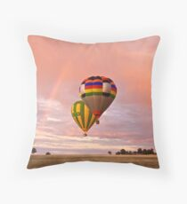 Balloons and rainbows 2 Throw Pillow
