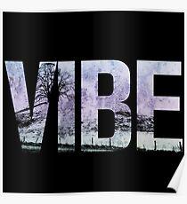 Vibe Retro Gradient Aesthetic Poster