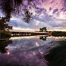 Riverton Bridge, Canning River. by Geoff White