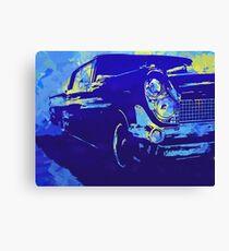 1959 Lincoln Continental Blue Pop Canvas Print