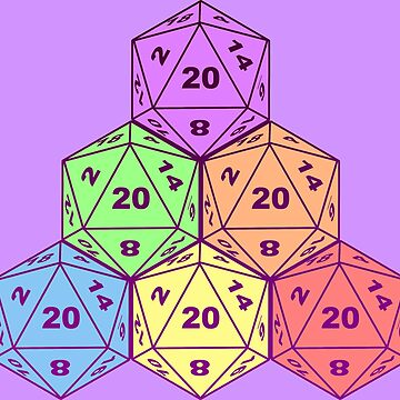 pastel d20s by oddishes