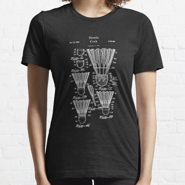 Vintage Badminton Shuttlecock Birdie Shirt - Shuttle Cock Essential T-Shirt