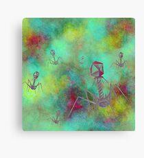Bacteriophage Invasion  Canvas Print